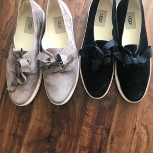 Two Pairs Authentic Ugg Lace up Shoes,, 9 1/2 M